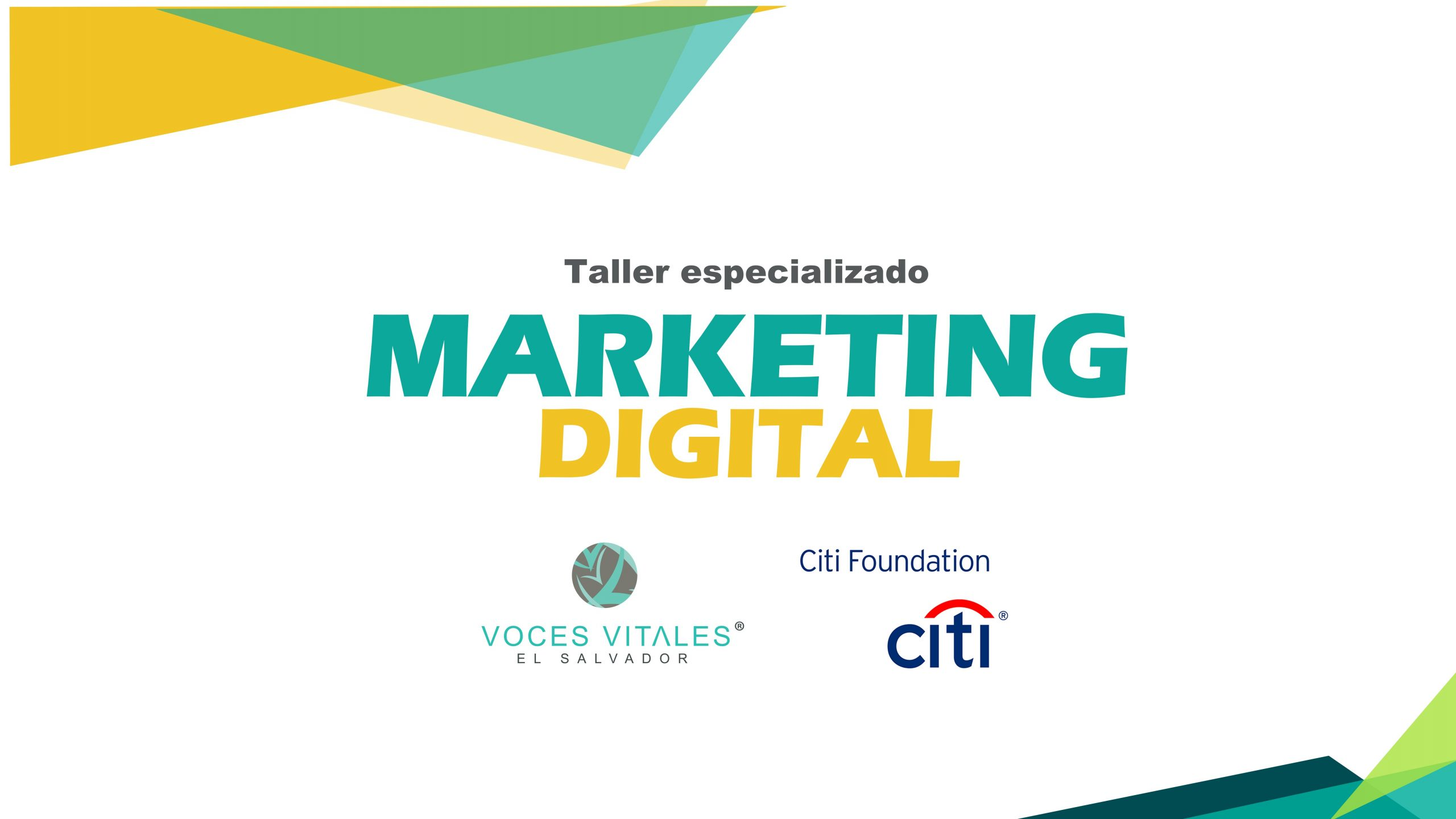 Taller Especializado: Marketing Digital